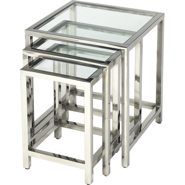 Abdul 3 Piece Nesting Tables by Wade Logan
