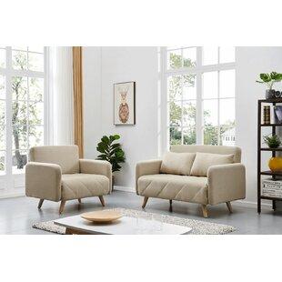 Gussie 2 Piece Sleeper Living Room Set by Corrigan Studio®