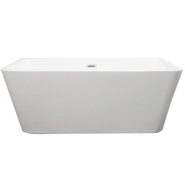 Gubbio 67 x 29 Freestanding Soaking Bathtub by Vinnova