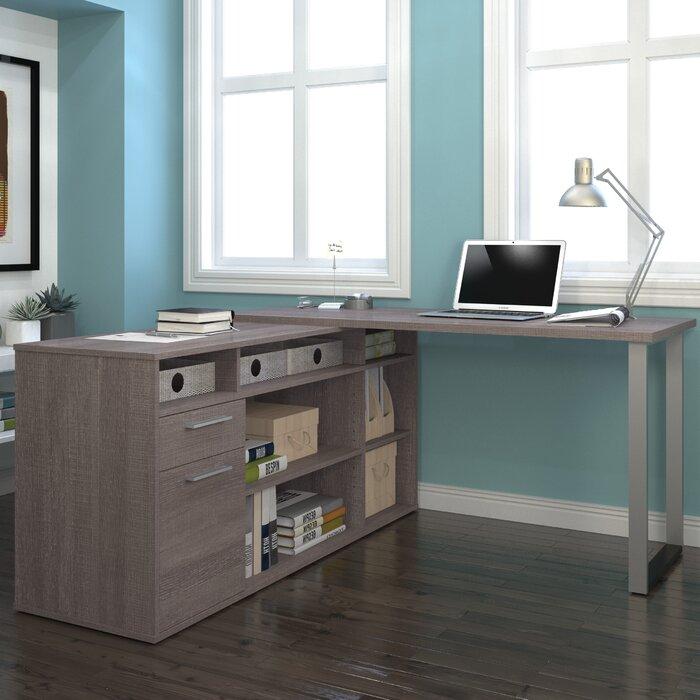 specialties the home shaped in desk en brown l computer monarch depot p