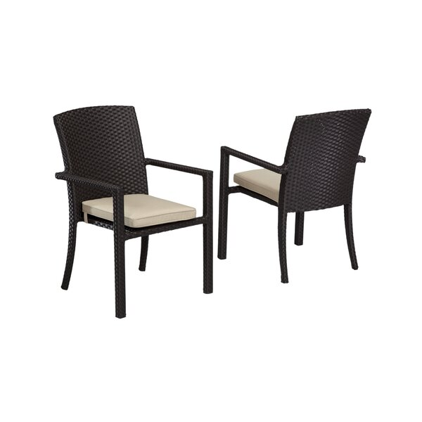 Aramingo Dining Arm Chair with Cushion by Wrought Studio
