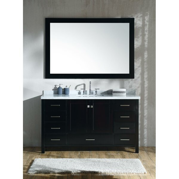 Marine 61 Single Rectangle Bathroom Vanity with Mirror by Andover Mills