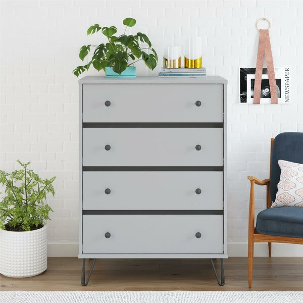 Best #1 Owen 4 Drawer Chest By Novogratz No Copoun