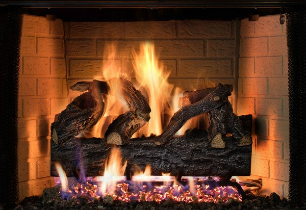 Four Seasons Discovery Elm Vented Dual Burner Natural Gas Match Lite by SureHeat