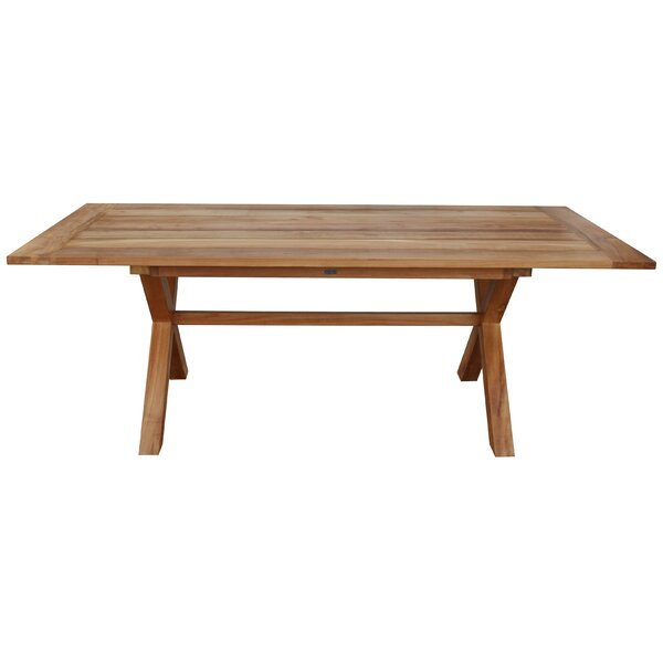 Chumley Cross Teak Dining Table by August Grove