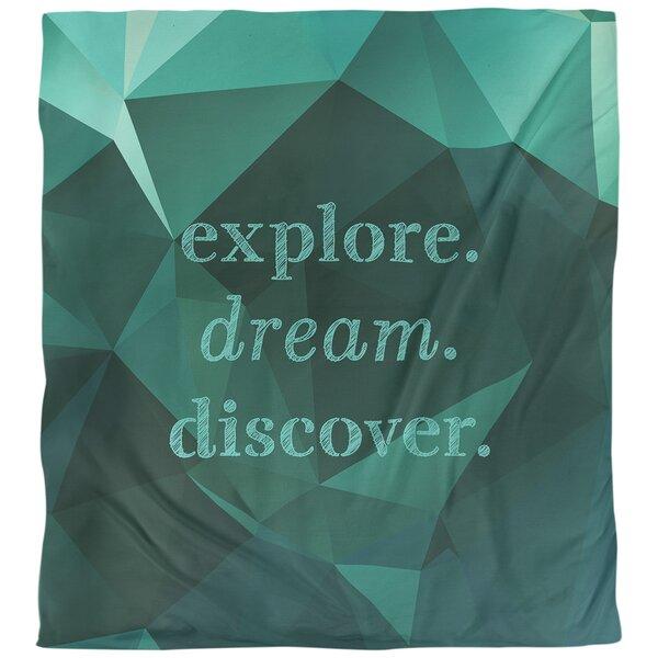 Explore Dream Discover Quote Single Duvet Cover