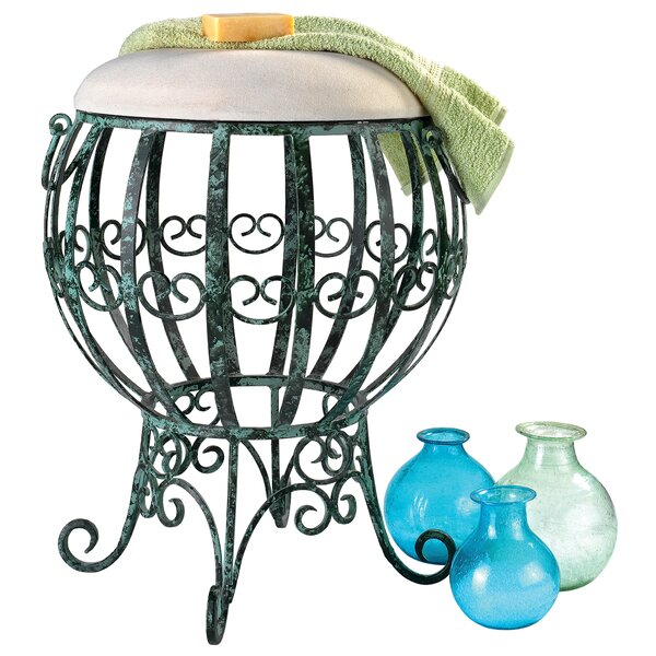 Le Geant Des Airs Hot Air Balloon Metal Accent Stool by Design Toscano