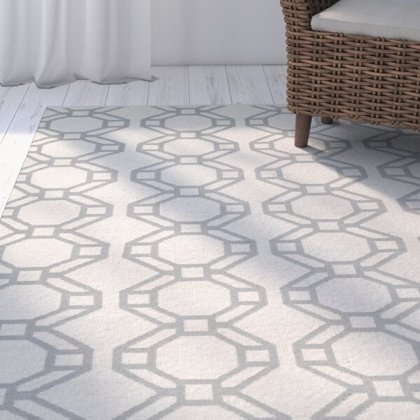 Fowler Cream/Gray Indoor/Outdoor Area Rug by Beachcrest Home
