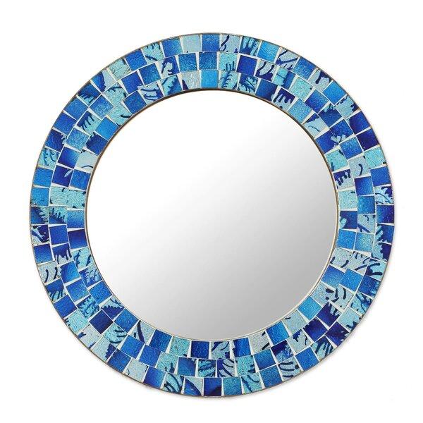 Chumasero Tropical Ocean Glass Mosaic Wall Mirror by World Menagerie