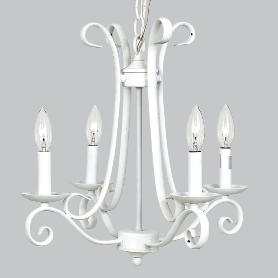 Harp 4-Light Candle Style Chandelier by Jubilee Collection