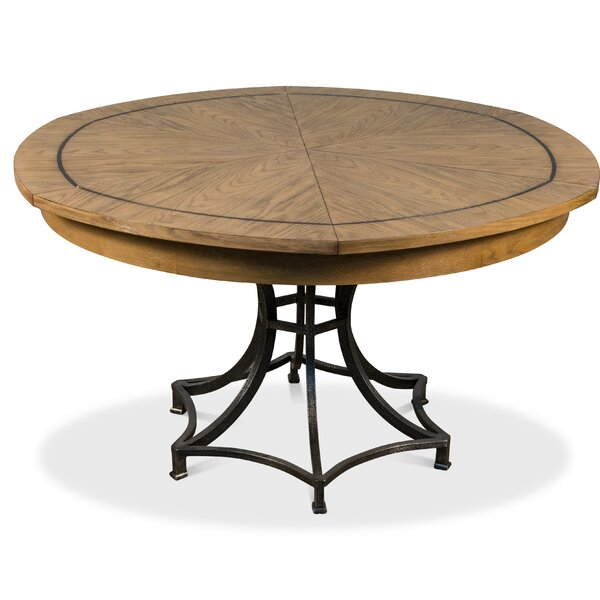 Claudios Extendable Solid Oak Dining Table By Gracie Oaks