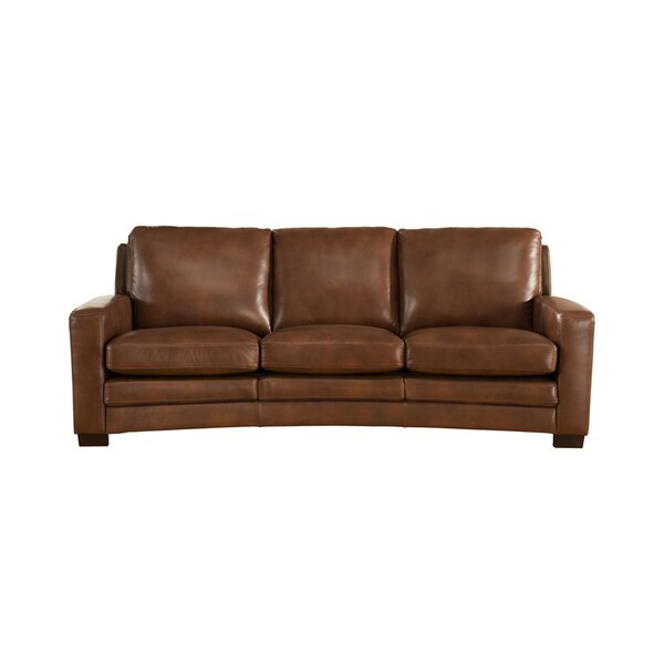 Theodora Craft Leather Sofa by Three Posts