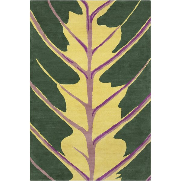 Oritz Hand Tufted Wool Green/Yellow Area Rug by Brayden Studio