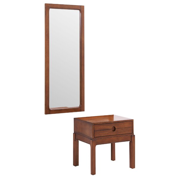 Ciara End Table with Mirror by Millwood Pines