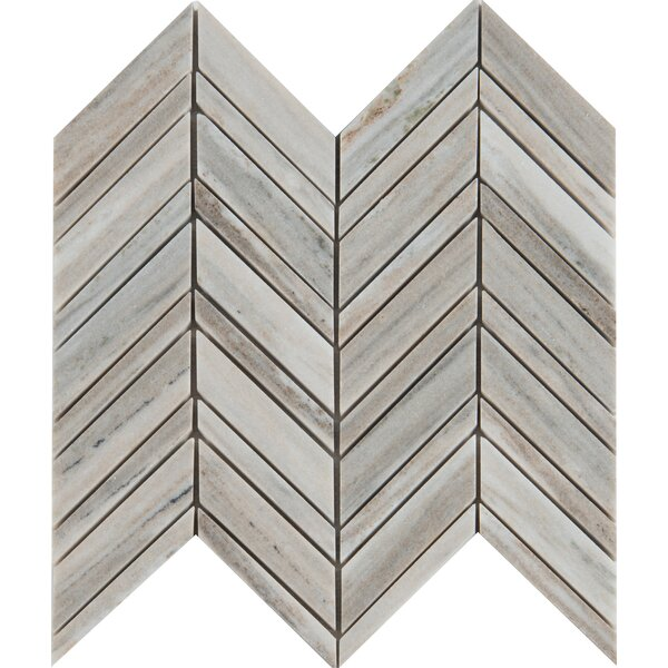 Palisandro 12 x 12 Marble Mosaic Tile in Gray by MSI