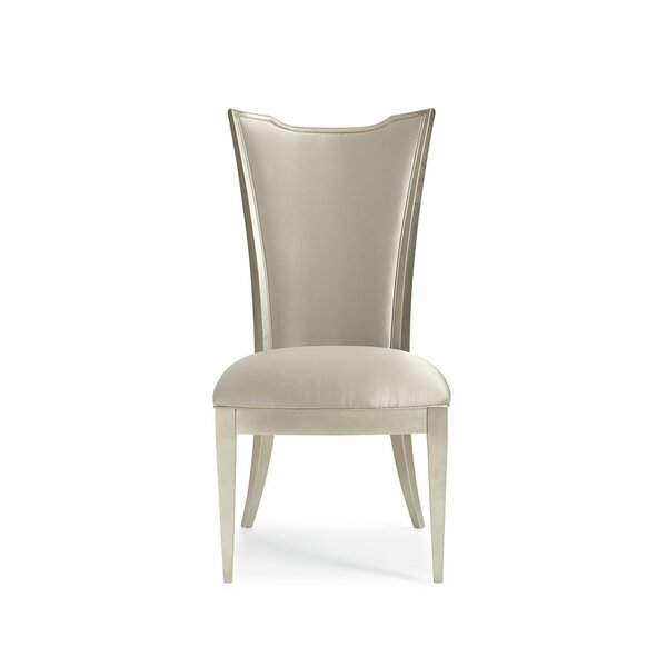Patio Furniture Leaf High Back Upholstered Dining Chair (Set Of 2)