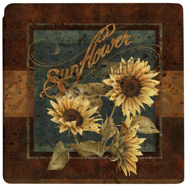 Sunflower Farm Travertine Ambiance Trivet by Thirstystone