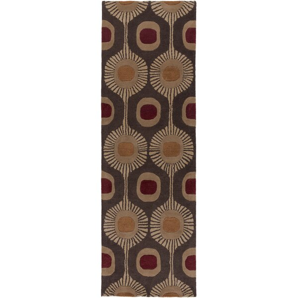 Dewald Geometric Hand-Tufted Wool Multicolor Area Rug