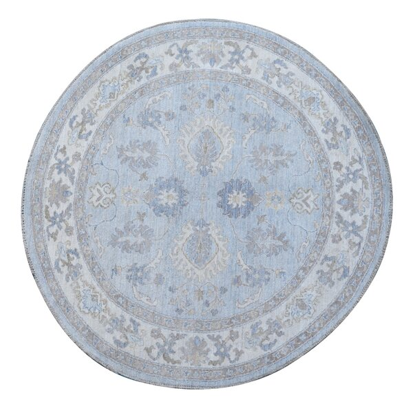 Hand-Knotted Blue Area Rug by Wildon Home ®