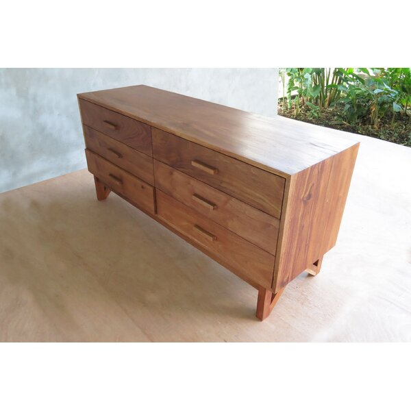 Maderas 6 Drawer Double Dresser by Masaya & Co