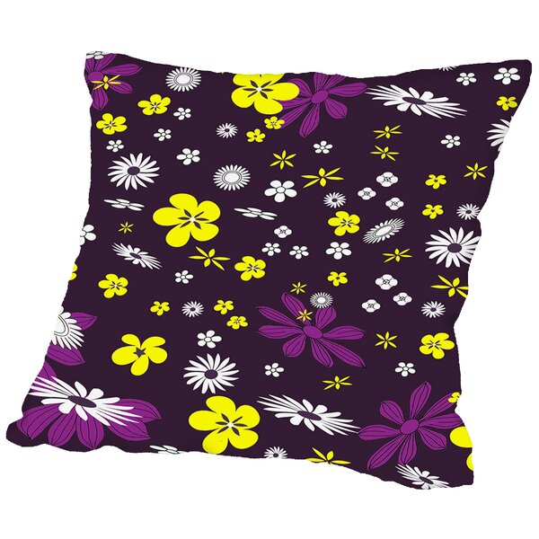 Floral Throw Pillow by East Urban Home