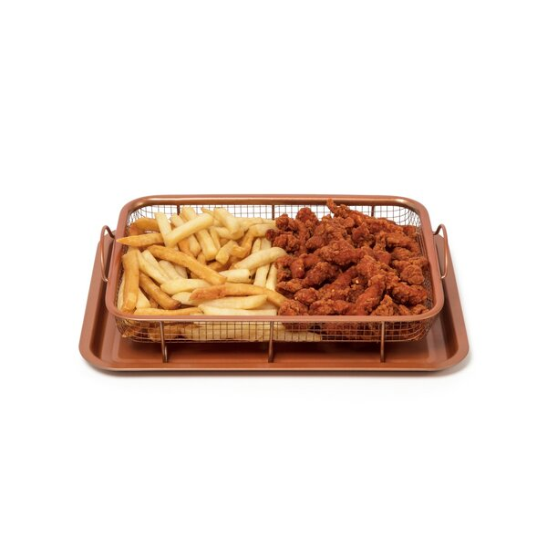 2 Piece Copper Crisper Non-Stick Cookware Set by Innova Imports