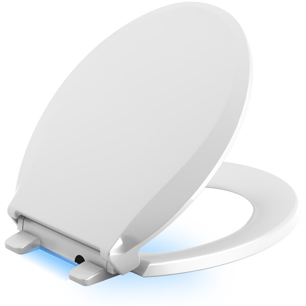 Cachet Nightlight Quiet-Close with Grip-Tight Round-Front Toilet Seat by Kohler