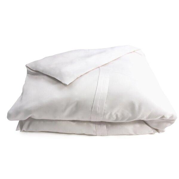 Double Pleat Cotton Sateen Duvet Cover