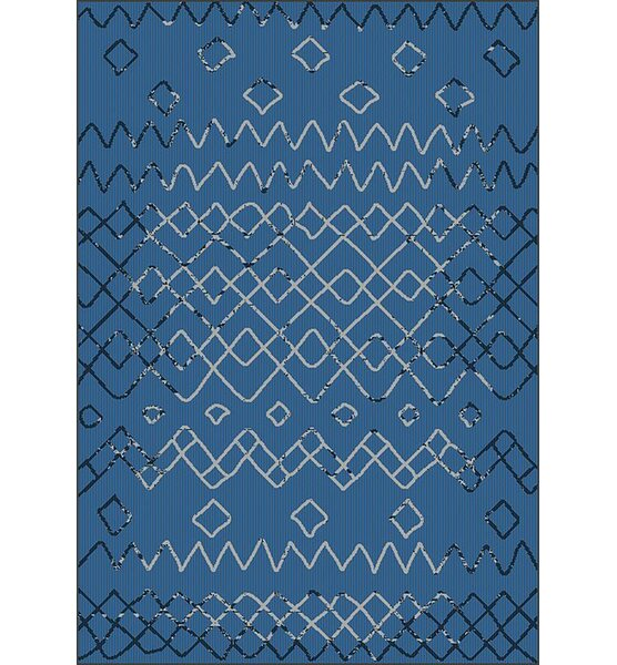 Tubbs Blue Indoor/Outdoor Area Rug by Millwood Pines
