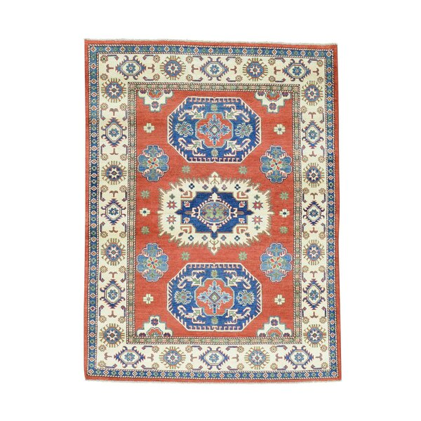 One-of-a-Kind Tillotson Hand-Knotted Red Area Rug by Millwood Pines