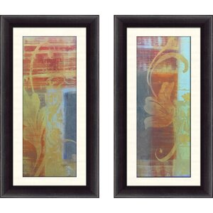 'Abstract Study I' 2 Piece Framed Acrylic Painting Print Set by Bloomsbury Market