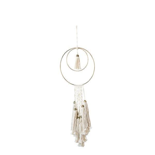 Cotton and Metal Wall Hanging by Mistana