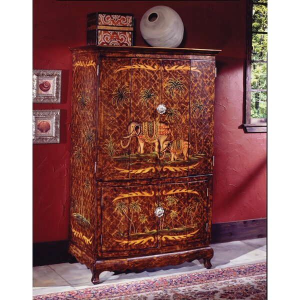 Patio Furniture Reiter Hand-Painted TV Armoire