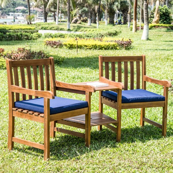 Olya Weather Resistant 3 Piece Seating Group with Cushions by Highland Dunes