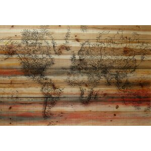 'Maailma' by Parvez Taj Painting Print on Natural Pine Wood by Parvez Taj