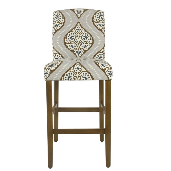 Hazel Curved Back 30.5 Bar Stool by Bungalow Rose