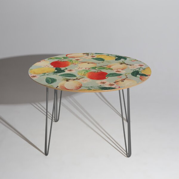 83 Oranges Fruity Summer Dining Table by East Urban Home