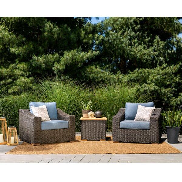 New Boston 3 Piece Sunbrella Sofa Seating Group with Cushion by La-Z-Boy