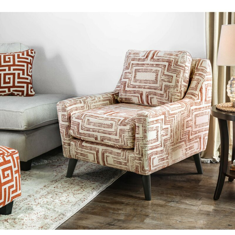 Latitude Run Lavalle Printed Geo Patterned Armchair Wayfair Magnificent Patterned Armchair