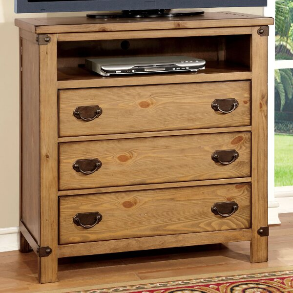 Shellson 3 Drawer Media Chest by Millwood Pines