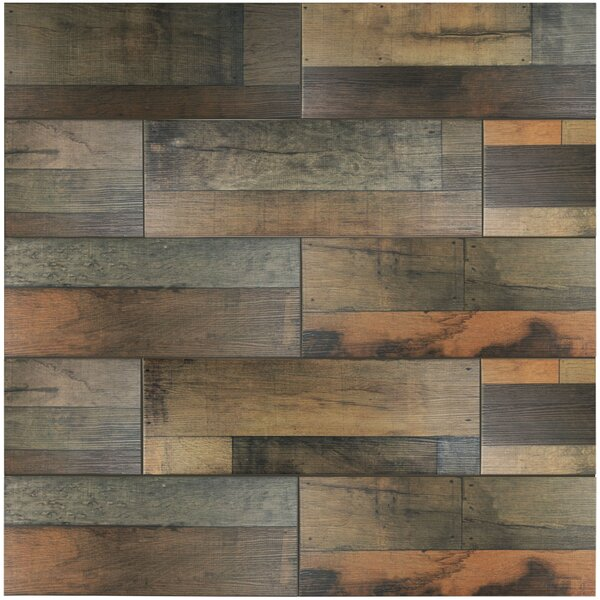 Lena 7.88 x 23.63 Ceramic Wood Tile in Mix by EliteTile