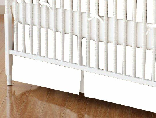 Solid Woven Crib Skirt by Sheetworld