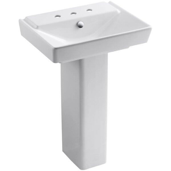 Reve Ceramic 36 Pedestal Bathroom Sink with Overflow by Kohler