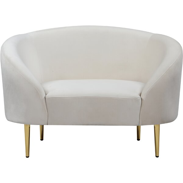 Ayva Barrel Chair by Everly Quinn Everly Quinn