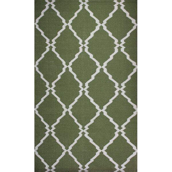 Buster Green Area Rug by Alcott Hill