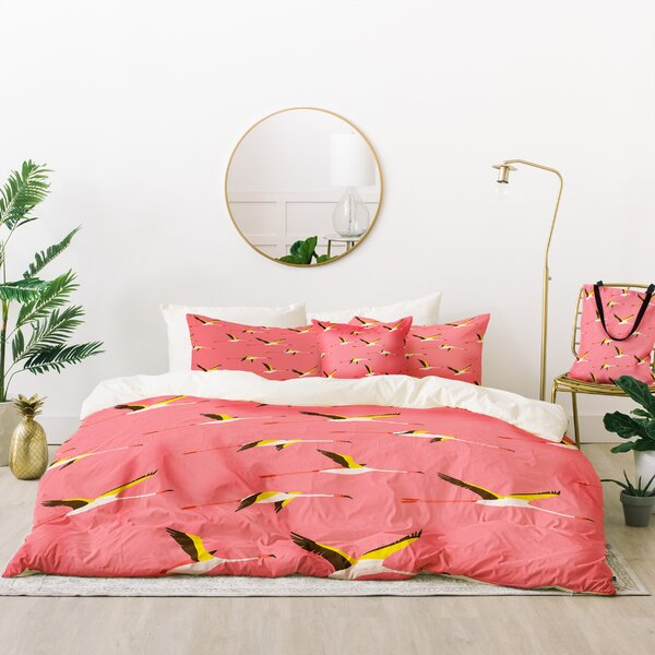 Holli Zollinger Flamingo Crush Duvet Cover Set