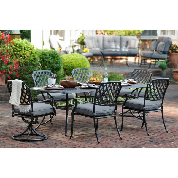 Coward 7 Piece Sunbrella Dining Set With Cushions By Darby Home Co