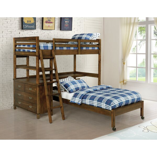 Killebrew Twin over Twin Bed with Drawers by Harriet Bee