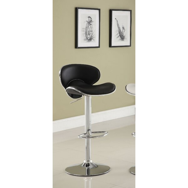 Izaiah Adjustable Height Swivel Bar Stool by Orren Ellis