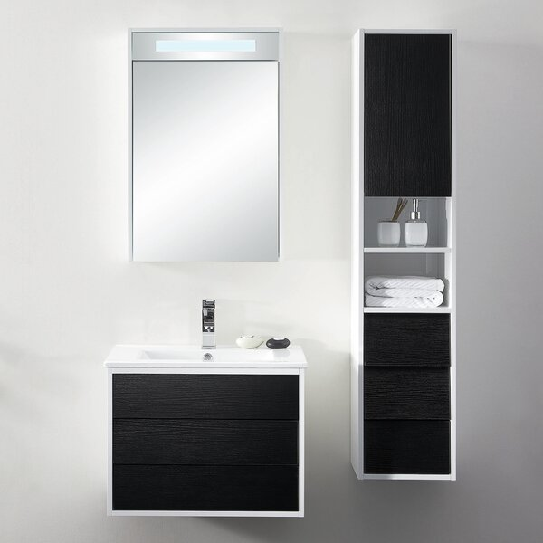 Donze 24 Wall-Mounted Single Bathroom Vanity Set by Latitude Run